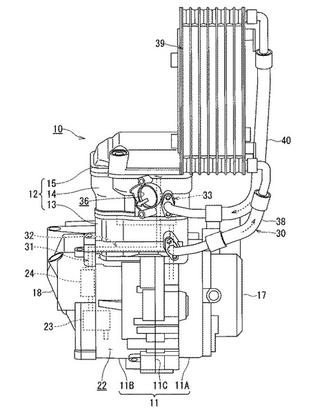 Suzuki Gixxer 250 Engine Patent Image Oil Cooler
