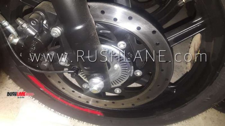 Bajaj Pulsar 220 Abs Spied At Dealership Front Brake