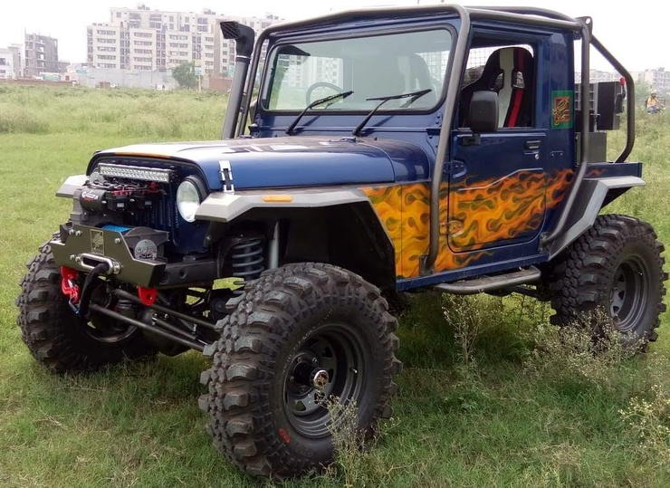 Modified Mahindra Thar Images Front Three Quarters