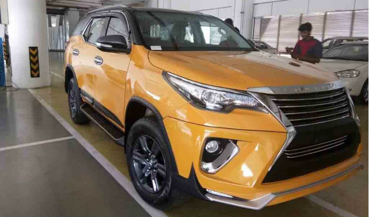 Modified Toyota Fortuner Images Front Three Quarte