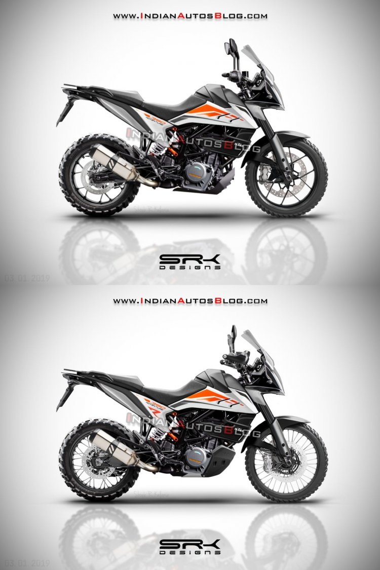 Ktm 390 Adventure 2019 Iab Render Right Side Comparison