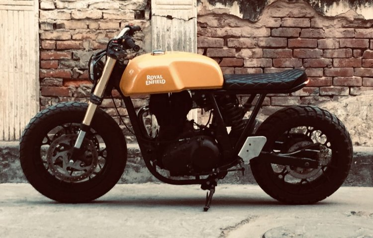 Royal Enfield Continental Gt 535 Modified Left Sid