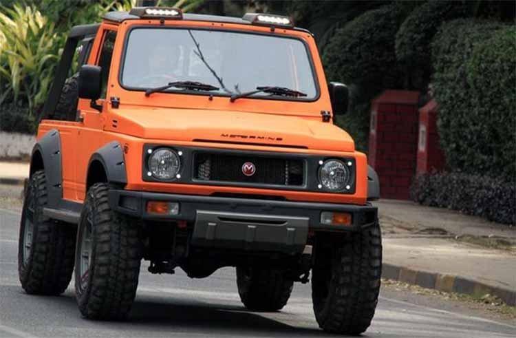 Modified Maruti Gypsy Motormind Orange Front Three