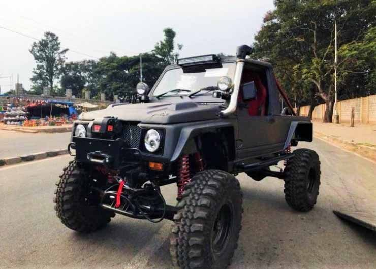 Modified Monster Maruti Gypsy Front Three Quarters