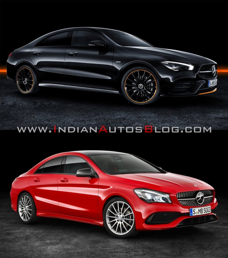 2019 Mercedes Cla Vs 2016 Mercedes Cla Front Three