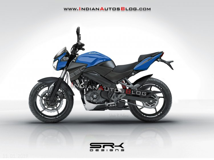 Bajaj Pulsar 250 IAB Render Left Side