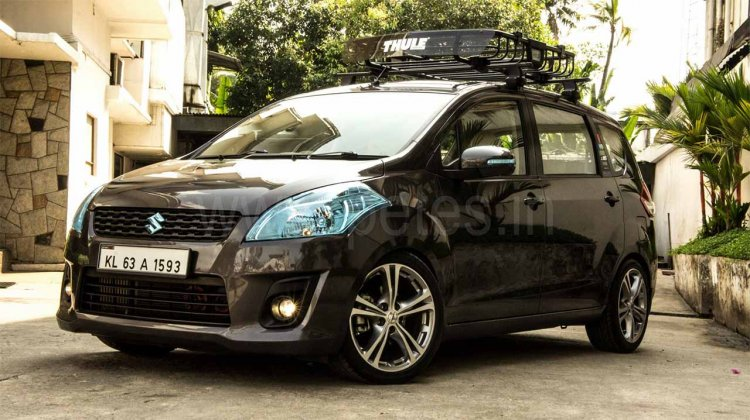 Modified Maruti Ertiga Front Three Quarters Image