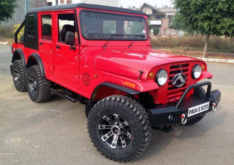 Mahindra Thar Modification 6x6 Images Front Three