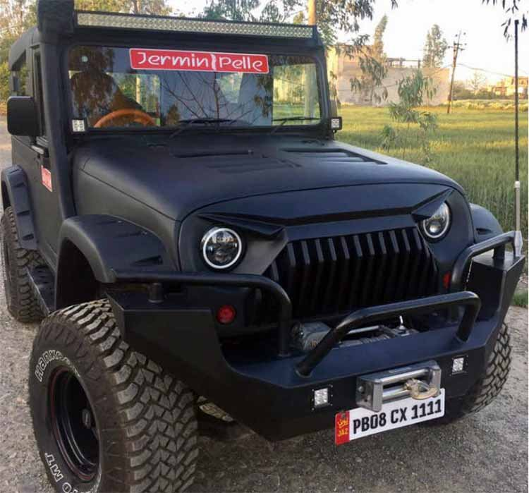 Mahindra Thar Modification Angry Bird Look Images