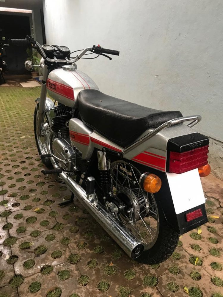 1987 Yezdi 350 Twin By R Deena Left Rear Quarter