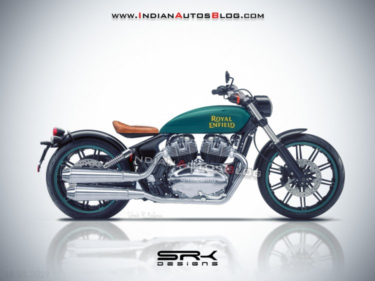Royal Enfield Concept Kx Bobber 838 Rendering Side