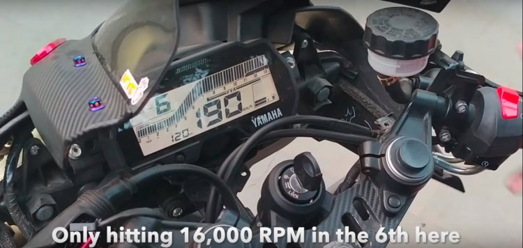 Yamaha R15 V3 Hits 190 Kph At 16000 Rpm