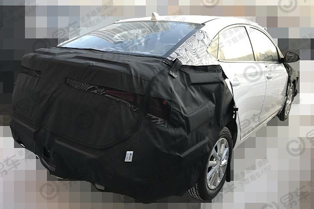 2020 Hyundai Verna Yuena Facelift Rear Three Quart