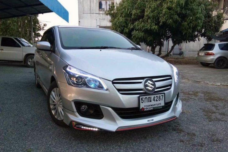 Modified Maruti Suzuki Ciaz Silver Front Three Qua