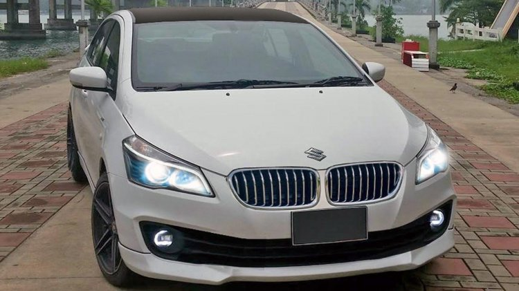 Modified Maruti Suzuki Ciaz White Bmw Front Three