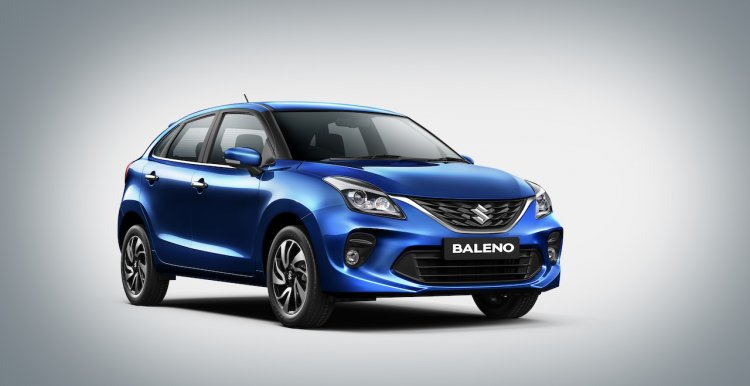 2019 Maruti Baleno Facelift Front Three Quarters