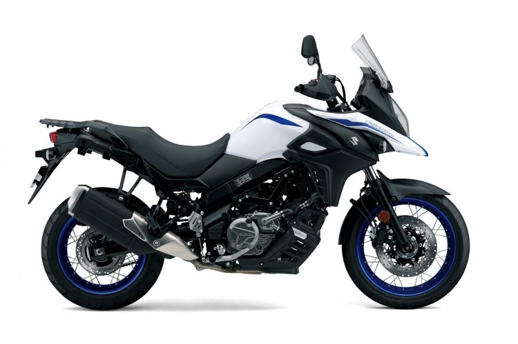 2019 Suzuki V Strom 650 Xt White Launched Side Pro