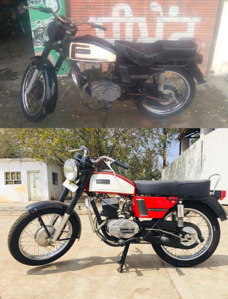 1978 Enfield Mini Bullet Pre Restoration And Post