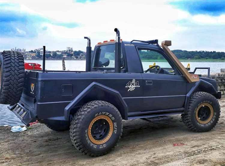 Modified Tata Sierra Pick Up Images Rear Three Qua