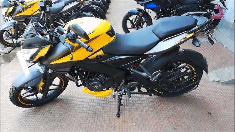 Bajaj Pulsar Ns200 Abs Yellow Left Side