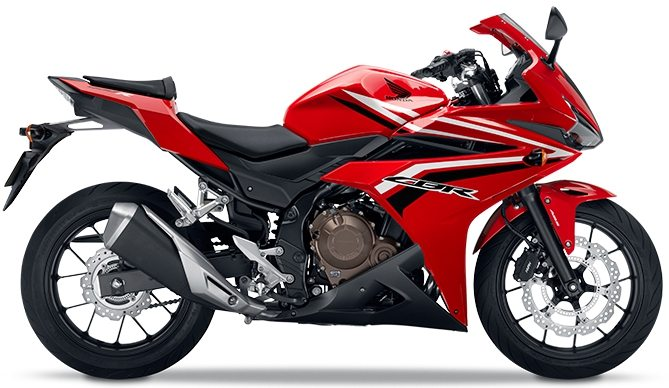 Honda Cbr400r Red Side Profile