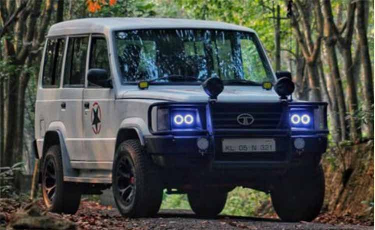 Modified Tata Sumo Minimal Look Front Three Quarte