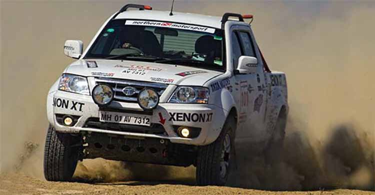 Modified Tata Xenon Rally Spec Front Three Quarter