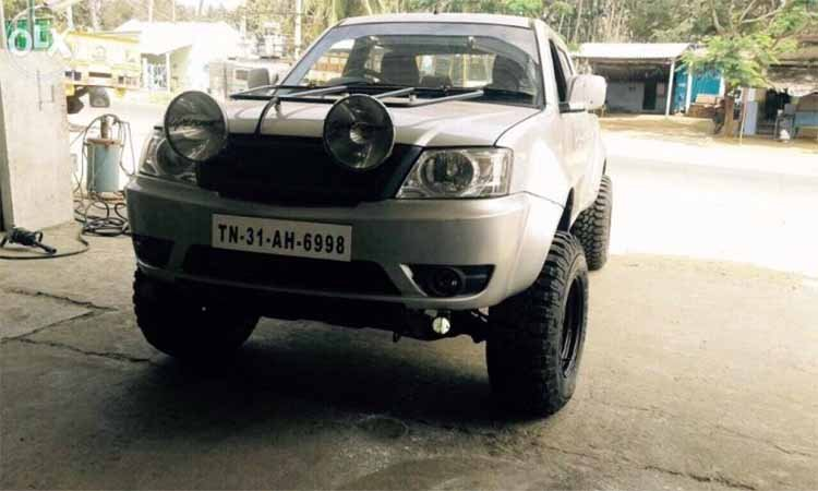 Modified Tata Xenon Tamil Nadu Front Three Quarter