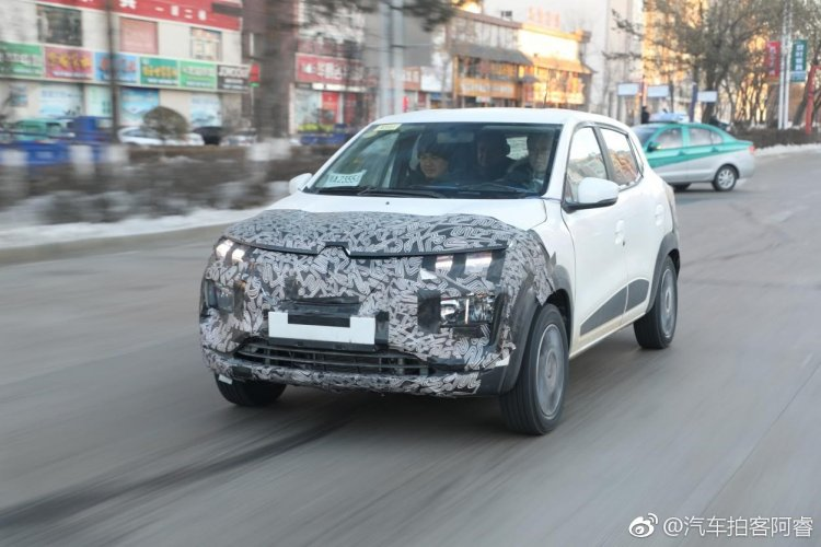 Renault Kwid Ev Production Renault Kz E Spy Shot
