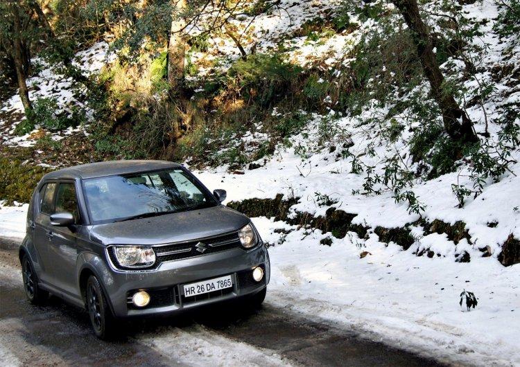 Maruti Ignis Driving On Snow