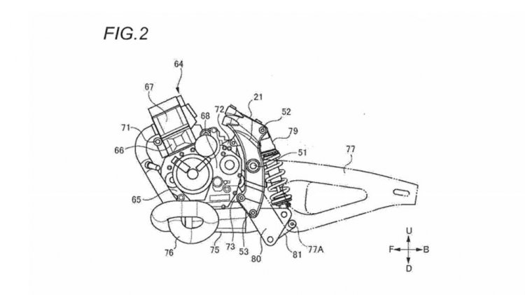 Suzuki Cafe Racer Patent Design Engine