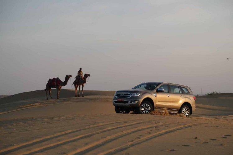 2019 Ford Endeavour Review Images Desert Dune Bash