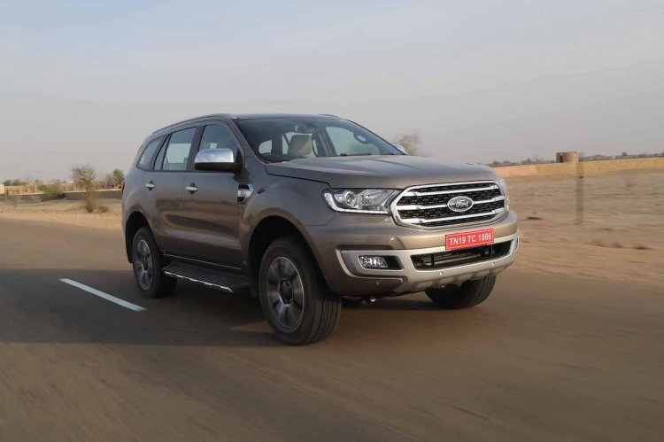 Ford Endeavour Review Images Front Three Quar