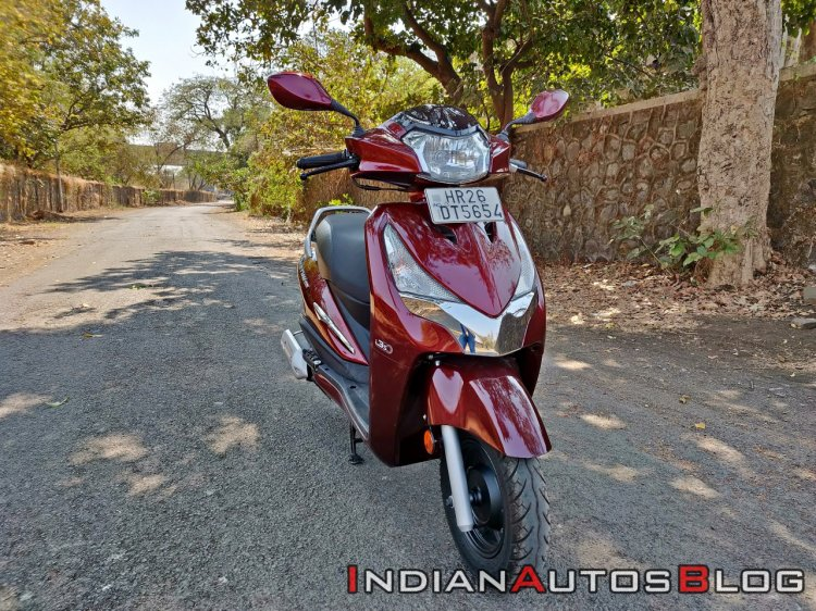 Hero Destini 125 Road Test Review Still Shots Front