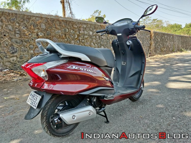 Hero Destini 125 Road Test Review Still Shots Rear