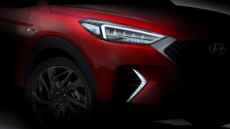 2019 Hyundai Tucson N Line Teaser Images Front