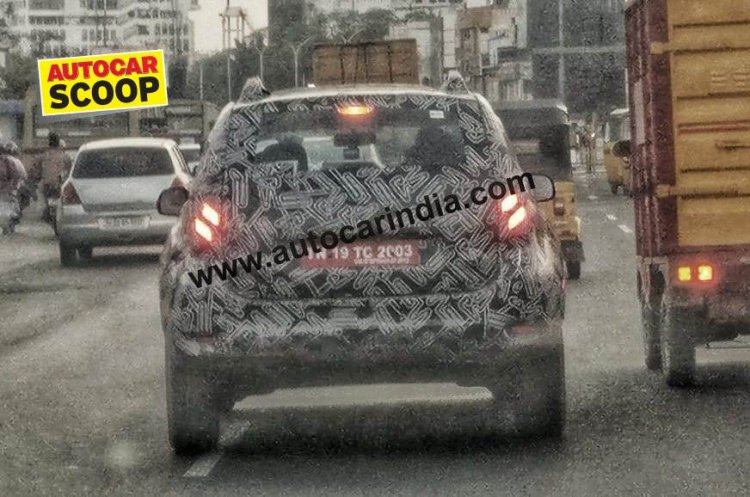 2020 Renault Duster Facelift Spy Image Rear 1