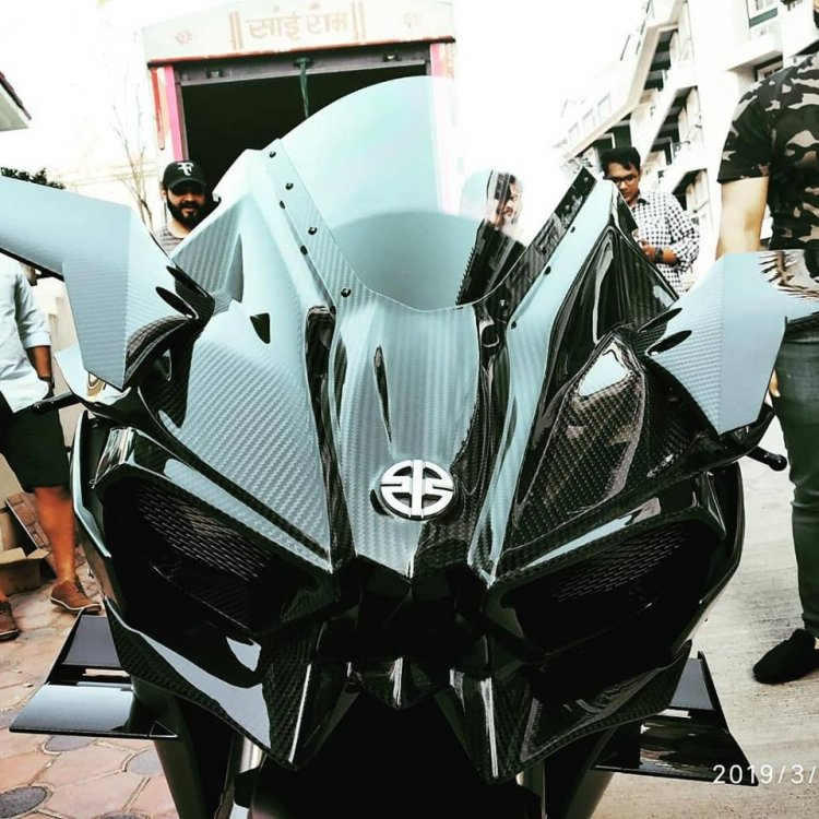 Indias First And Only Kawasaki Ninja H2r Fascia