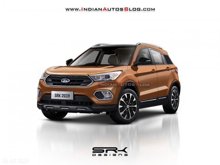 2019 Ford Ecosport India Spec Rendering Front Thre