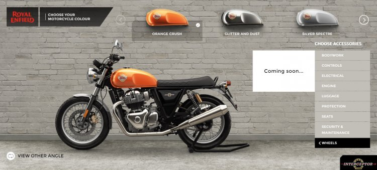 Royal Enfield 650 Twins Alloy Wheel Website Screen