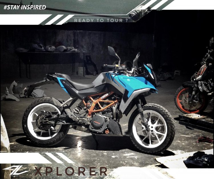 Autologue Design Xplorer Kit On A Ktm 390 Duke 3