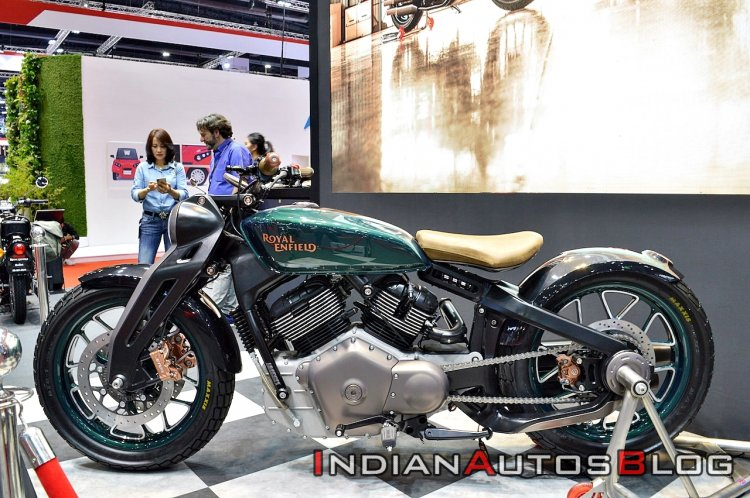 upcoming Royal Enfield motorcycles Royal Enfield Kx Concept Bims 2019 Left Side