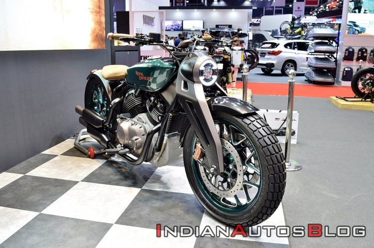 upcoming Royal Enfield motorcycles Royal Enfield KX Concept Bims 2019 Right Front Qua