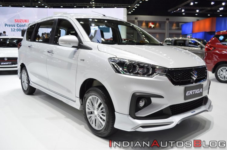 Accessorised Suzuki Ertiga Front Three Quarters Ri