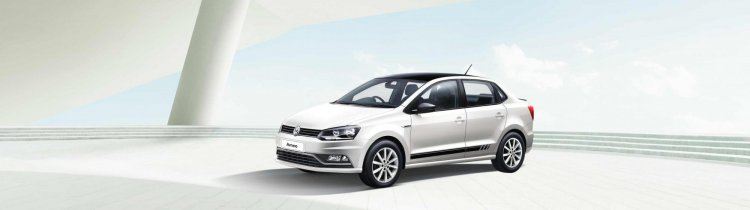 Vw Ameo Black White Edition Front Three Quarters