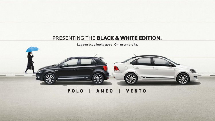 Vw Polo Vw Ameo And Vw Vento Black White Edition