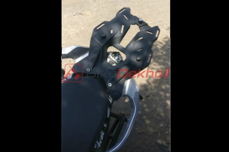 Ktm 390 Adventure Spied Again Top Box Mount