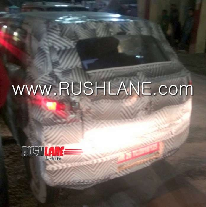 Next Gen Maruti Alto Spy Image Rear Three Quarters