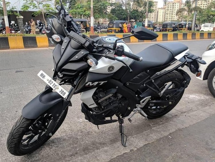 Yamaha Mt 15 White With Black Rims 1