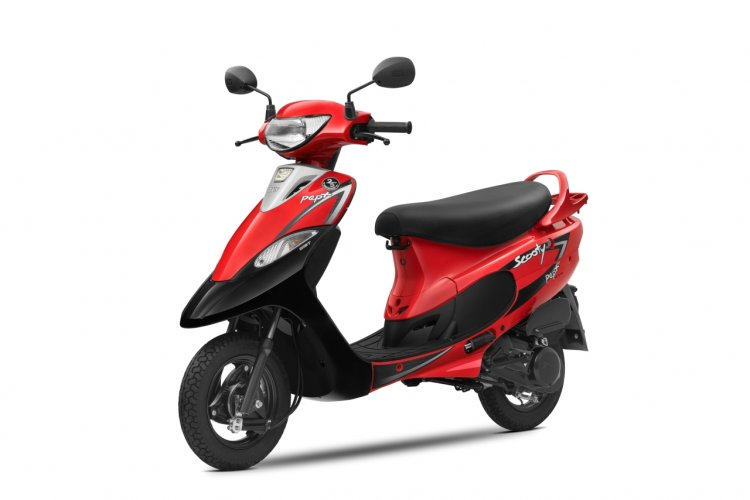 New Tvs Scooty Red 25 Years